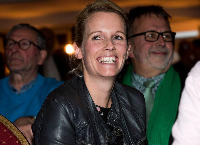CDA-lijsttrekker Maria de Jong met achter zich CDA-wethouder Maks van Middelkoop