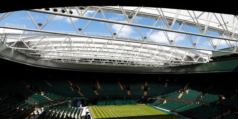 Het Centre Court van Wimbledon. Beeld EPA