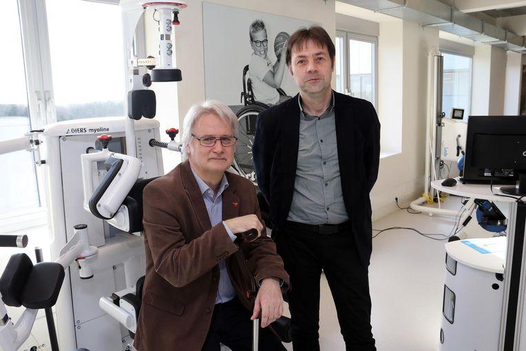 Peter Bellens en onderzoeker Lieven De Maesschalck.
