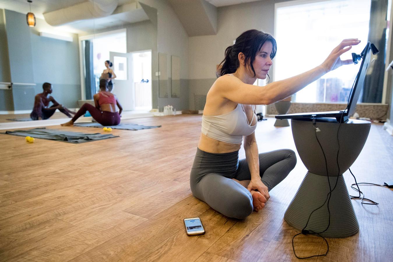 Ook yogalessen kunnen online gegeven worden.