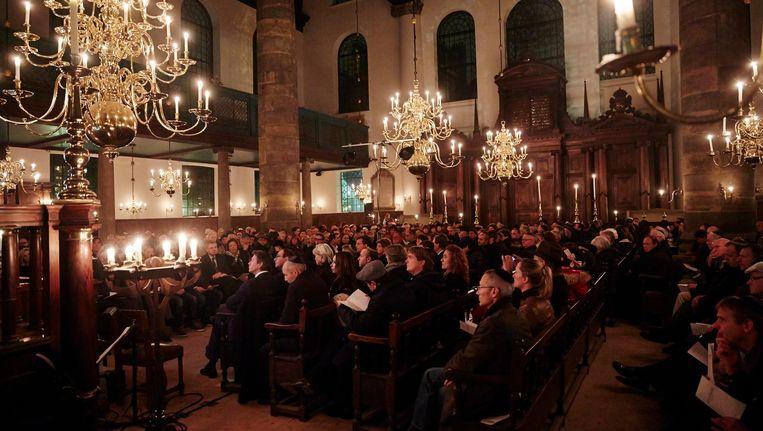 De herdenking in de Portugese synagoge Beeld anp