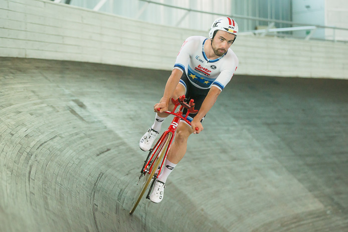 Belgian Victor Campenaerts of Lotto Soudal pictured in action during a training of the Belgian national track cycling team, Tuesday 25 June 2019, in Gent. BELGA PHOTO JAMES ARTHUR GEKIERE