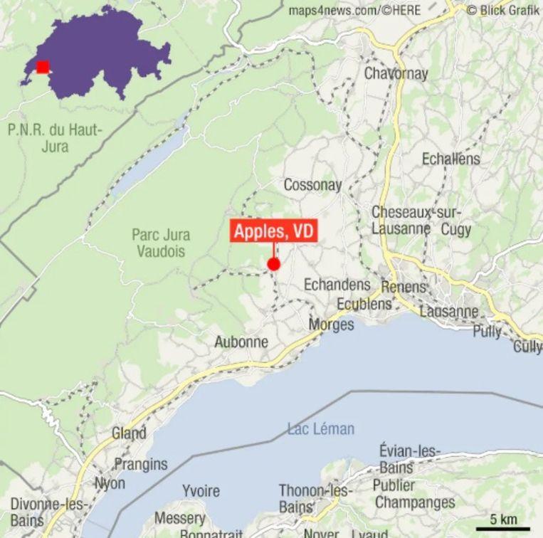 Het dorpje Apples in het kanton Vaud ligt in de buurt van het Lac Léman, het meer van Genève.