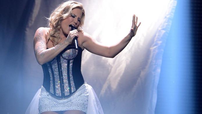Natalie Horler, zangeres van de groep Cascada, won donderdag de selectie voor het Songfestival.