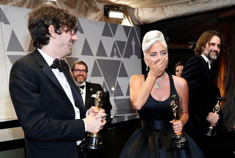 Lady Gaga won de Oscar voor beste lied met Shallow uit A Star Is Born. Beeld REUTERS
