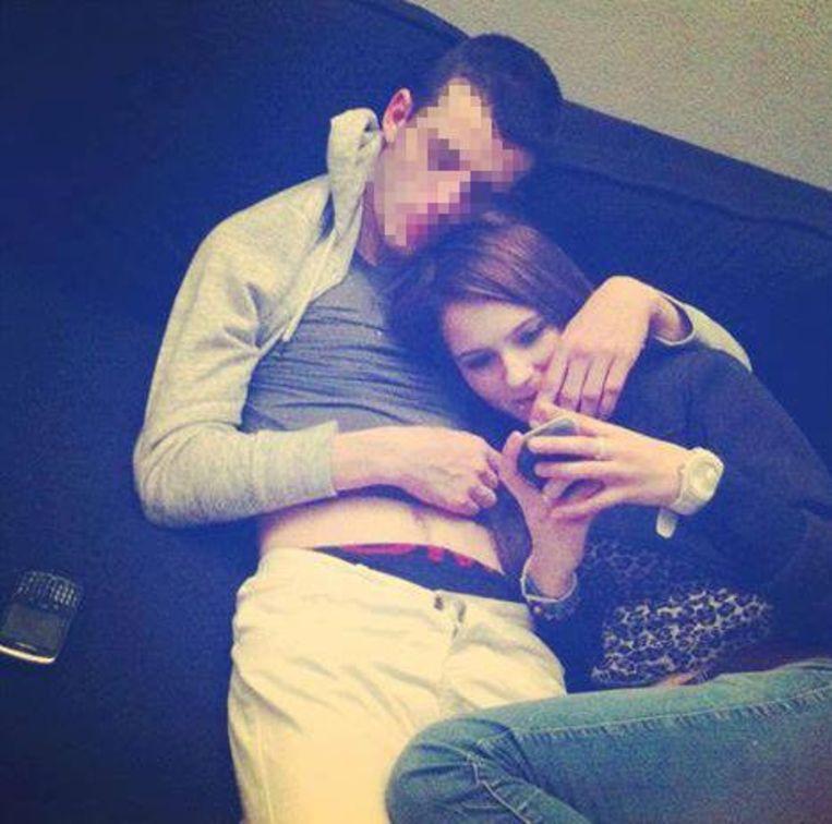 Tamara met haar ex-vriend Luciano W.