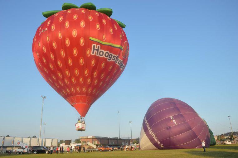Deze vliegende aardbei was één van de blikvangers op de ballonmeeting.