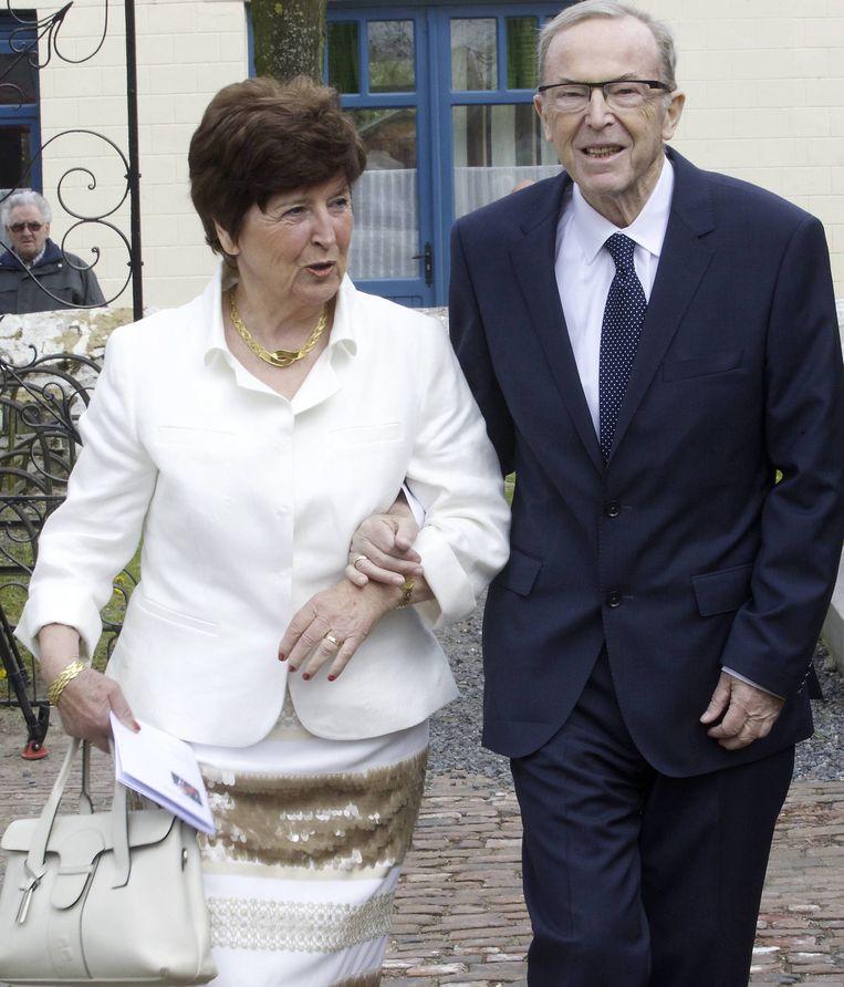 Wilfried Martens en zijn echtgenote Miet Smet in april 2013.