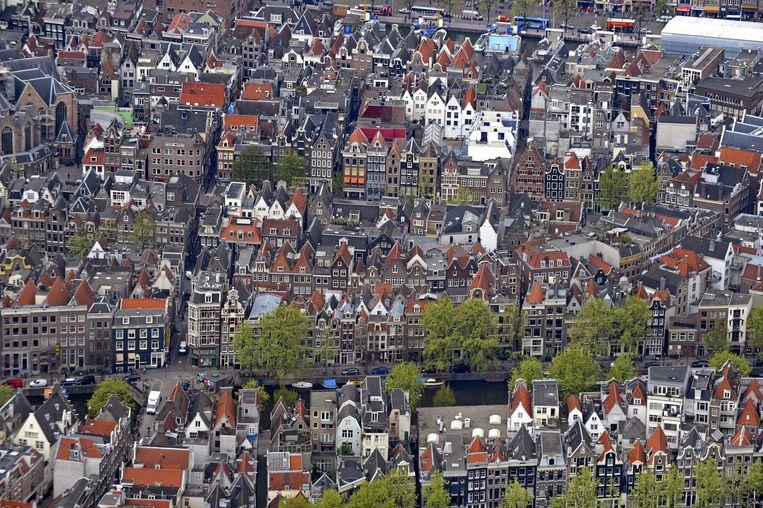 Luchtfoto van Amsterdam. Beeld Raymond Rutting/de Volkskrant