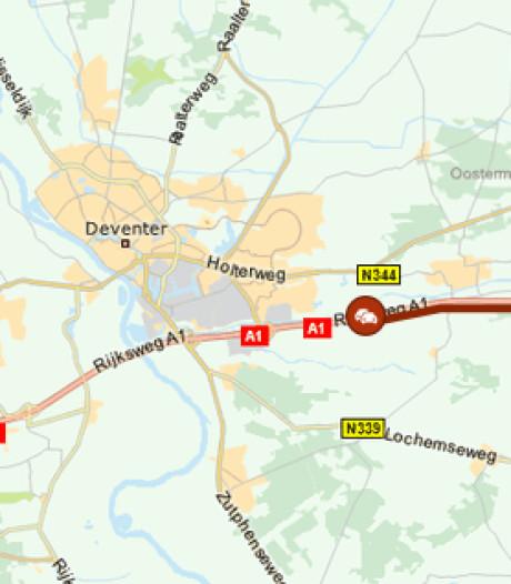 A1 richting Twente weer vrijgegeven na ongeluk bij Deventer