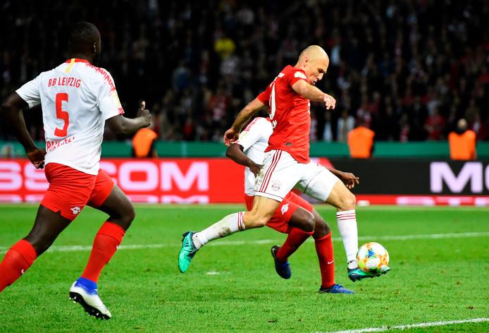 Arjen Robben in actie in de bekerfinale.