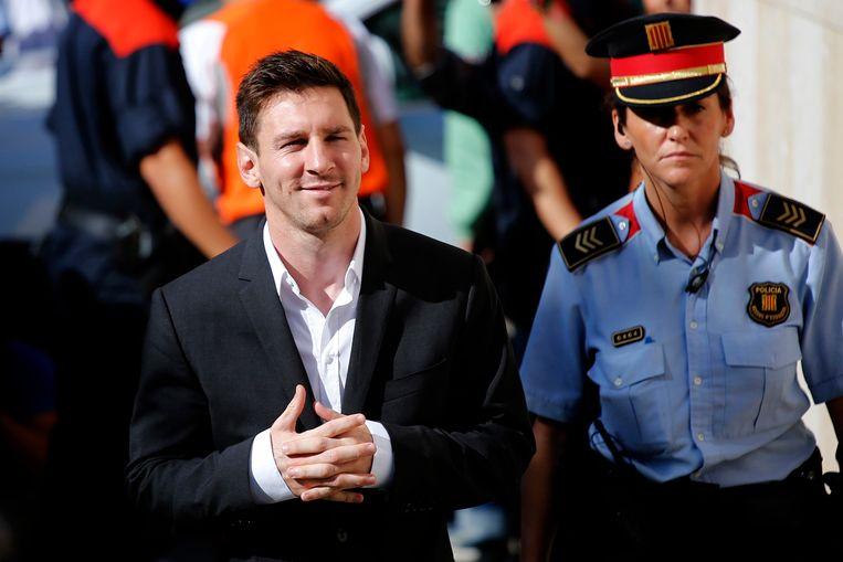 Lionel Messi in mei 2017 tijdens zijn zaak.