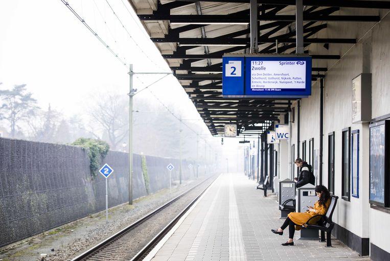 Een treinstation in Nederland.