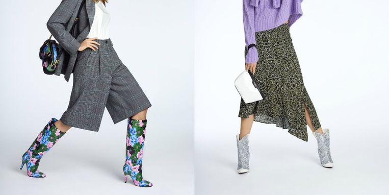2 campagnebeelden van de schoenencollectie.