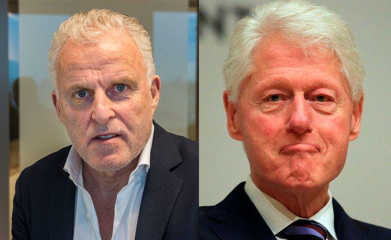 Peter R. de Vries en Bill Clinton. Beeld