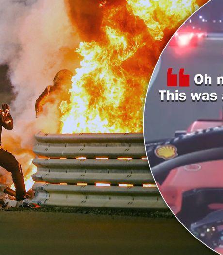 F1-collega's Grosjean beleven bange minuten na crash: 'Zeg me dat hij oké is, alsjeblieft'