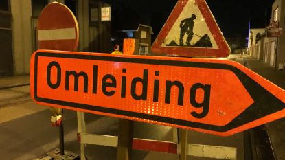 Hinder door werken in de Stationsstraat