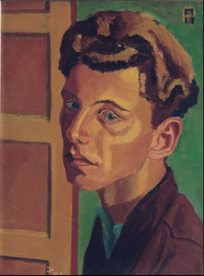 Zelfportret Piet Smissaert, olieverf op board, 1948.