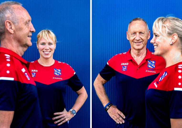 Sportpsycholoog Berber van den Berg en turncoach Tjalling van den Berg.  Beeld Klaas Jan van der Weij