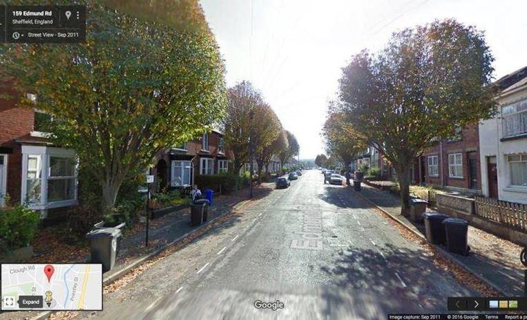 De Edmund Road voor... Beeld Sheffield Tree Action Groups