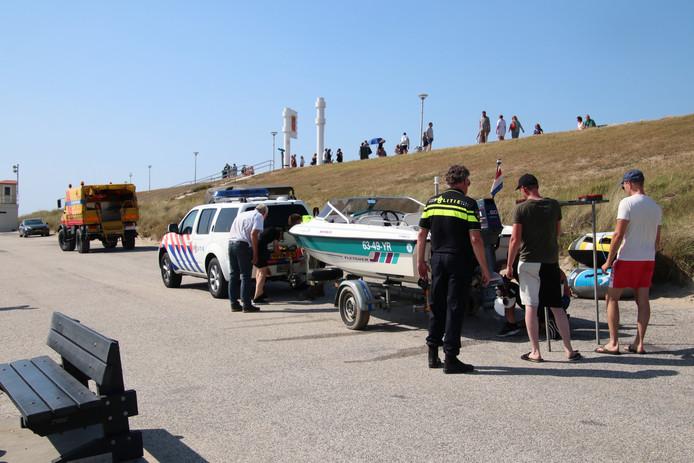 De betrokken speedboot bij de dodelijke aanvaring.