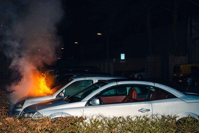 De autobrand in Tilburg.