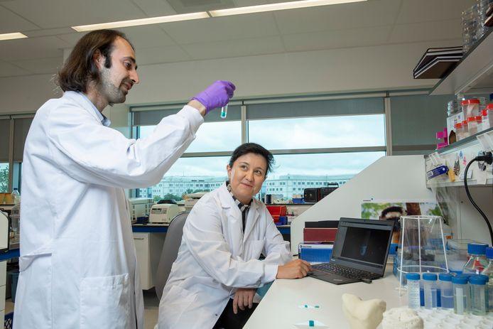 Riccardo Levato (links): ,,Bioprinten is een veelbelovende techniek, maar we hebben nog veel vragen te beantwoorden.''