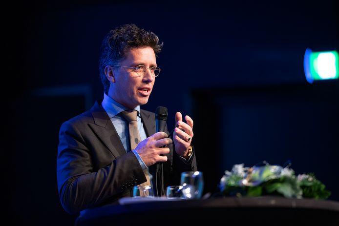 Hendrik Jan Mensink tijdens een bijeenkomst over het SKB vorig jaar in Groenlo.