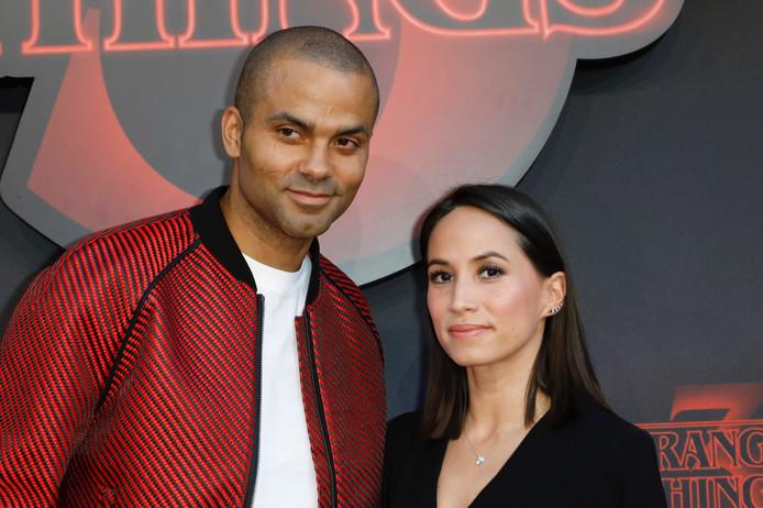Tony Parker et sa femme Axelle Francine.