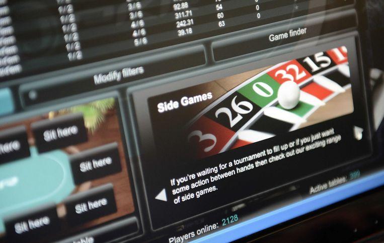 Website van een online casino (archieffoto)