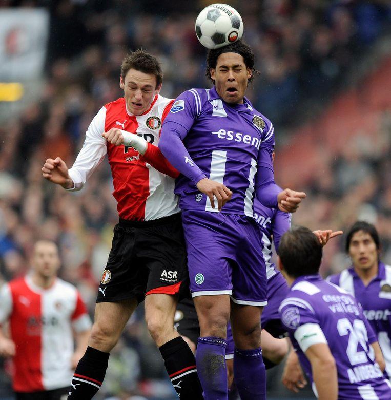 Drie jaar speelde Van Dijk voor FC Groningen, waarna hij de Noordzee overstak voor Celtic en Southampton. FC Groningen incasseerde 3 miljoen euro van Celtic en bedong een doorverkooppercentage. Beeld anp
