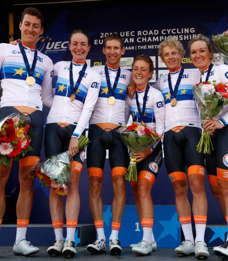 Nederland wint gemengde estafette op EK wielrennen