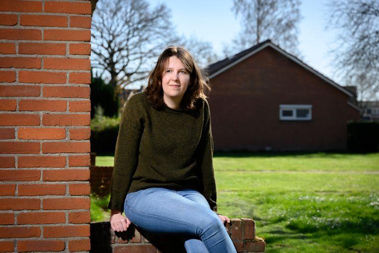 Klimaatactivist Sandra is de eerste deelnemer van Extinction Rebellion die voor de rechter moest verschijnen.  Beeld Bram Petraeus