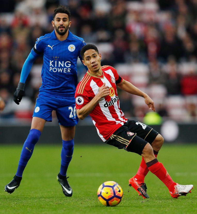 Pienaar het voorbije seizoen met Sunderland tegen Leicester.
