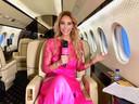 In het vliegtuig van Exxaero, onderweg naar Cannes