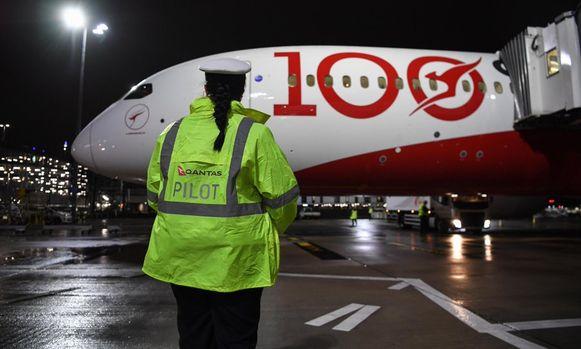 Het vliegtuig van Qantas steeg deze ochtend op vanop de Londense luchthaven Heathrow.