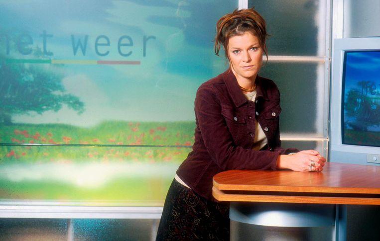 Amper 25 was ze toen ze het weerpraatje begon te verzorgen voor VTM.