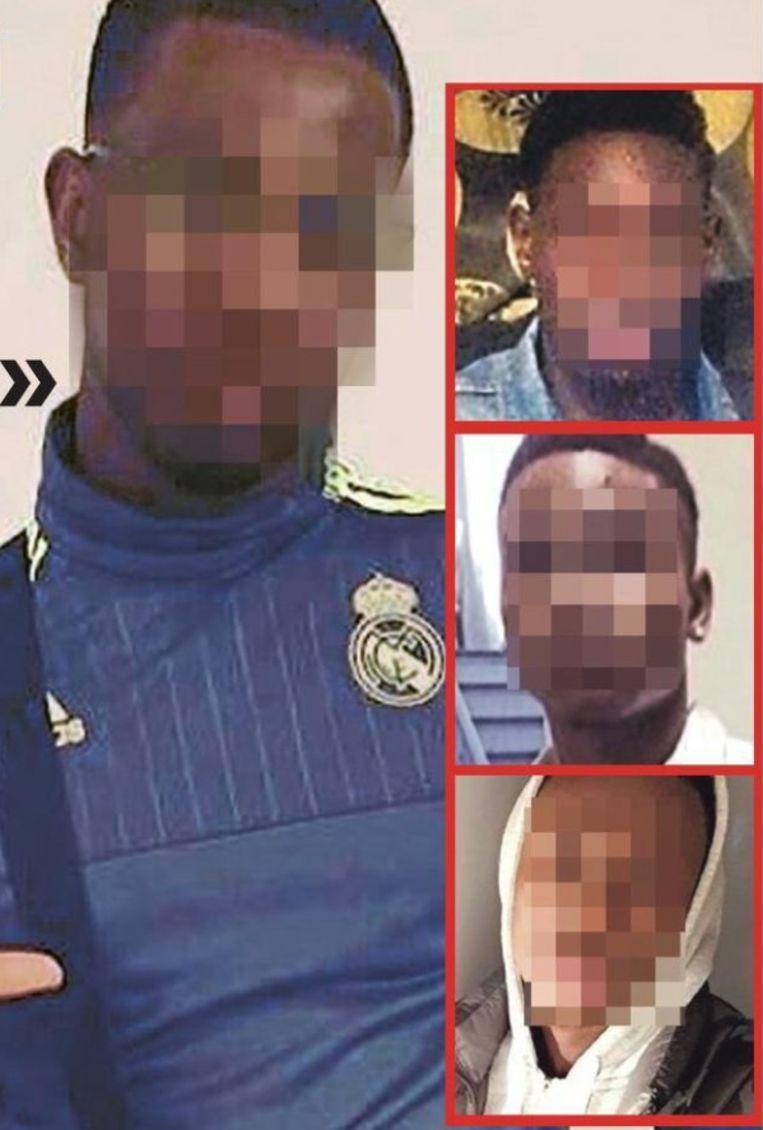 De vier mannen die verdacht worden van de groepsverkrachting van de Nederlandse toeristes.