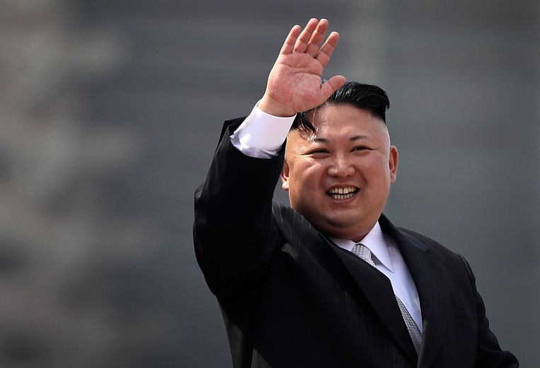 De Noord-Koreaanse leider Kim Jong Un. Beeld AP