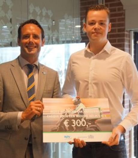 Beste maaltijdbezorger van Harderwijk rijdt graag veilig door de stad