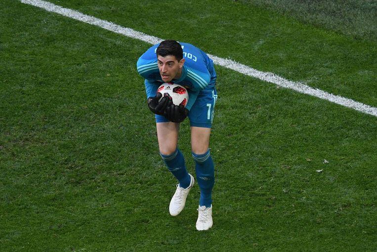 De beste keeper van het toernooi Thibaut Courtois. Beeld AFP
