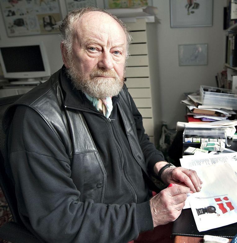 De Deense cartoonist Kurt Westergaard. Beeld AFP