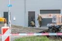 De EOD deed onderzoek na de vondst van de granaat.
