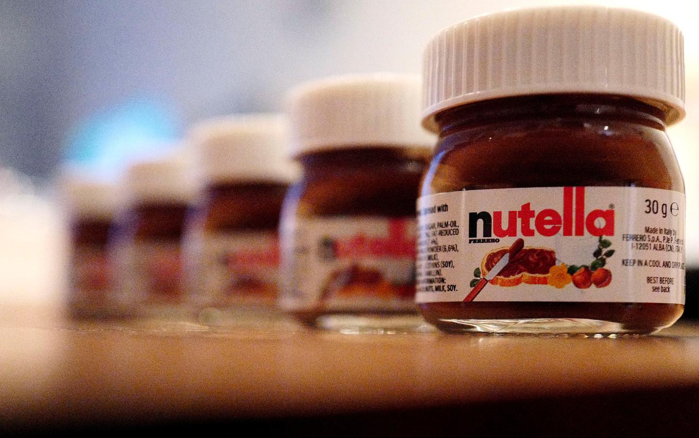 Nutellashops duiken overal in de hoofdstad op.