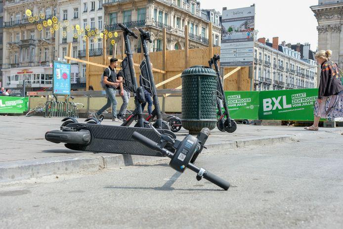 Steps in het centrum van Brussel.