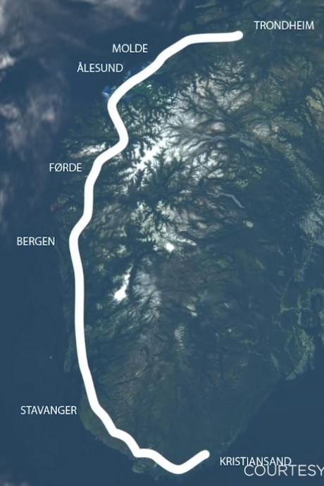 Deze 1100 kilometer lange kustweg in Noorwegen gaat 40 miljard kosten