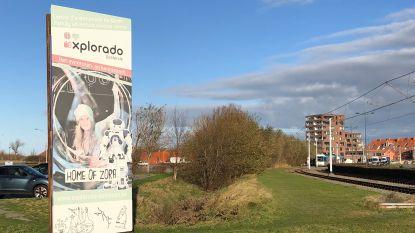 Nog altijd reclame voor Explorado (ook al is het wetenschapspark al twee jaar gesloten)