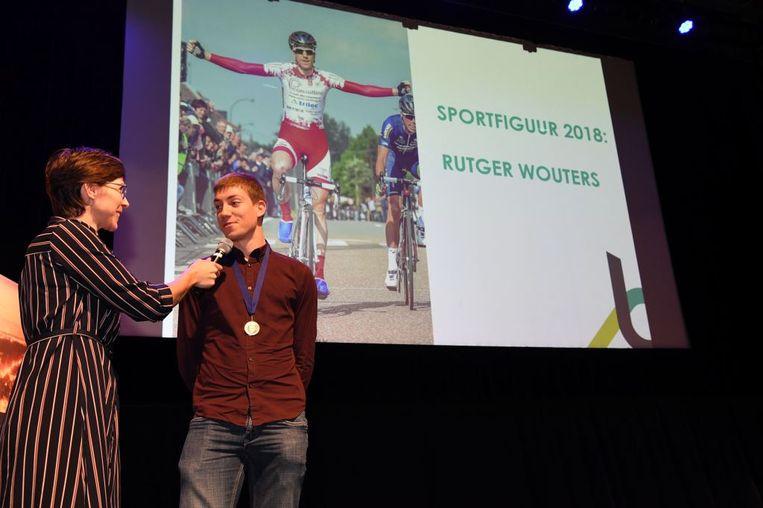 Rutger Wouters werd gehuldigd als sportfiguur van het jaar. Hij werd onder meer Belgisch kampioen bij de eliterenners zonder contract in het wielrennen