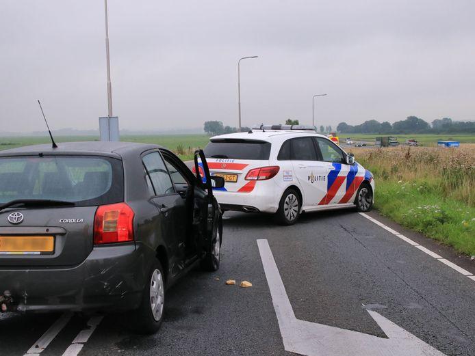 De politieachtervolging eindigde op de A28.