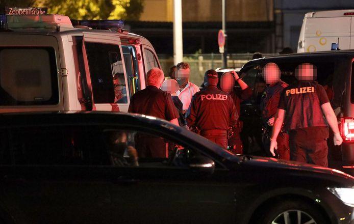 De arrestatie van de 47-verdachte in Linz.
